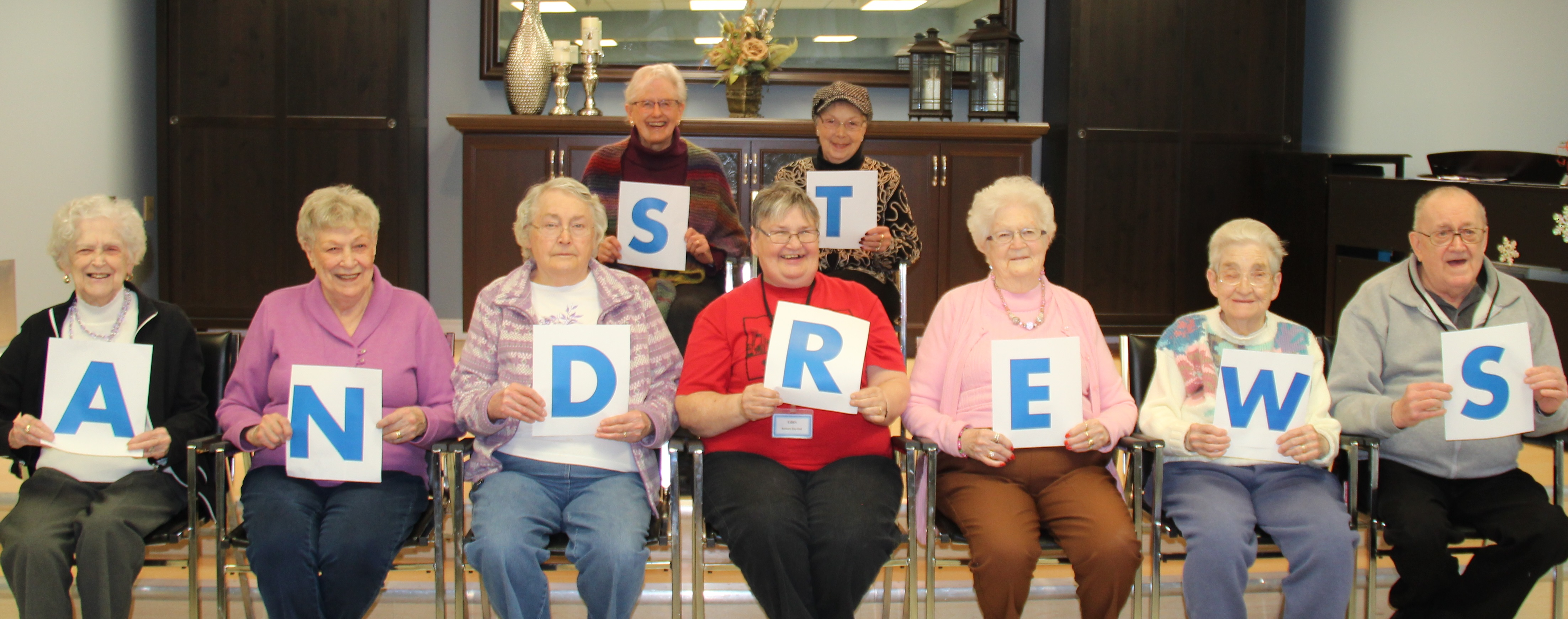 Picture of Residents spelling St. Andrew's