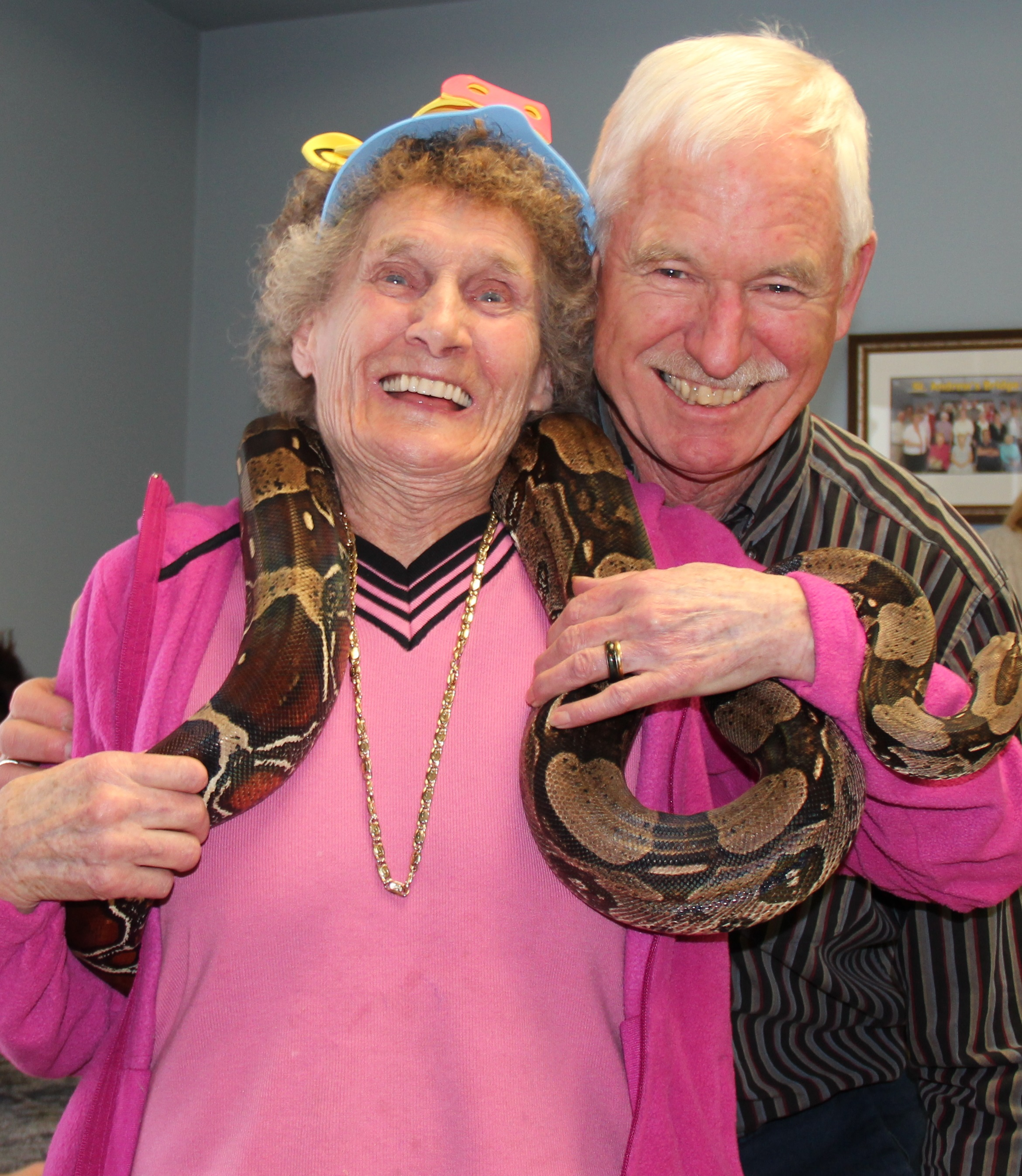 Picture of resident and a snake